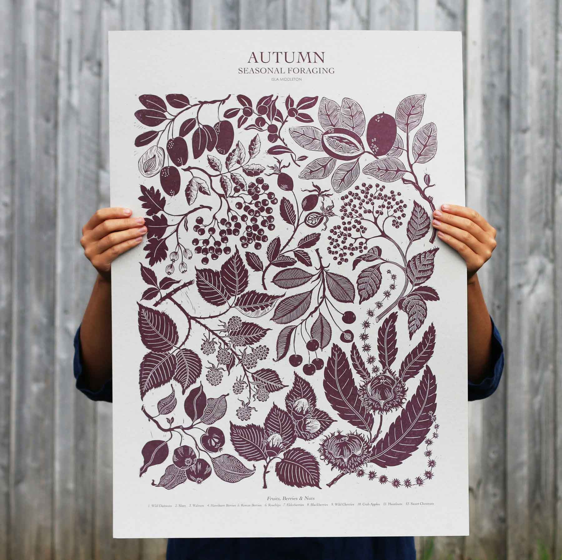 Autumn Foraging Poster